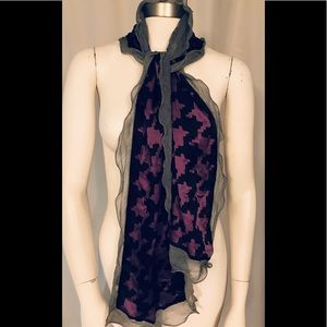 ECHO ruffle edge silk scarf